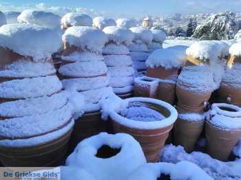 Sneeuw in Thrapsano Kreta - De Griekse Gids - Foto van Andreas Dorgiomanolakis