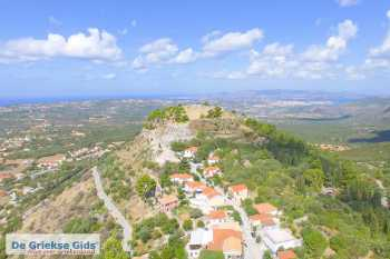 Kastro Agios Georgios Kefalonia - luchtfoto - De Griekse Gids - Foto van De Griekse Gids