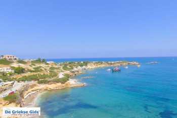 Sarantari Beach Chersonissos Heraklion Kreta luchtfoto - Foto van De Griekse Gids