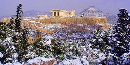 Athene in de winter