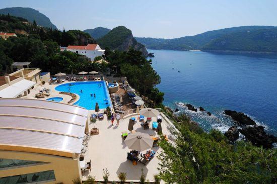Hotel Akrotiri Beach in Paleokastritsa Corfu
