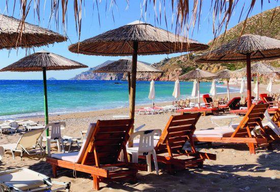 Komi Beach strand Chios