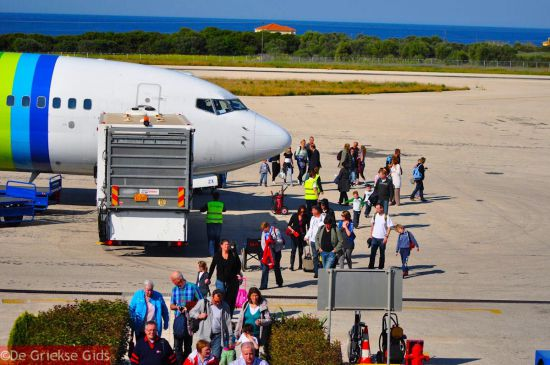 Griekenland Transavia vliegtuig