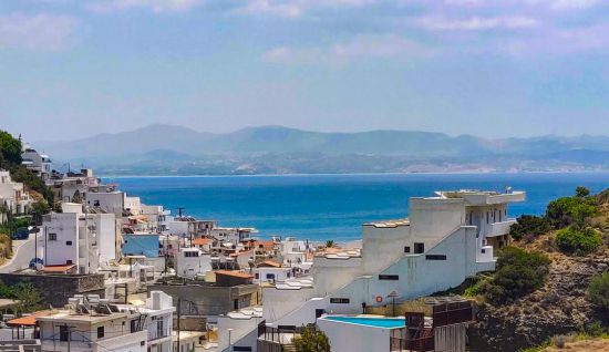 Uitzicht Neos Ikaros Agia Galini Kreta