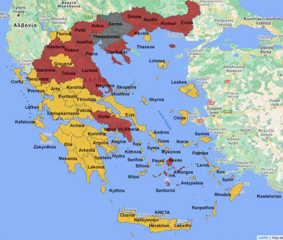 Covid-19 kaart van 3 november 2020