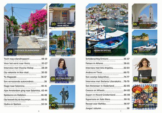 Inhoud Griekse Gids Glossy Tijdschrift