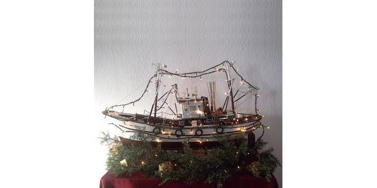 Kerstmis Griekenland, bootjes versieren