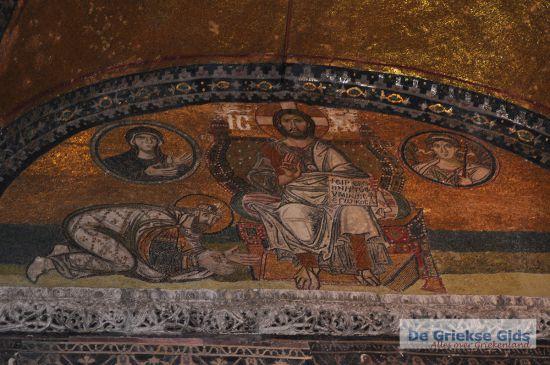 Muurschildering Aya Sofia Constantinopel