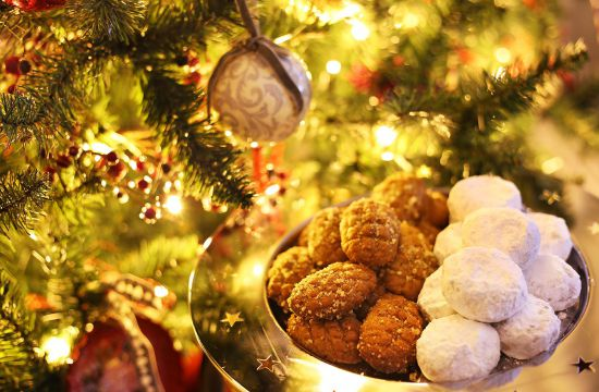 HMelomakarona en kourabiedes kerstkoekjes Griekenland