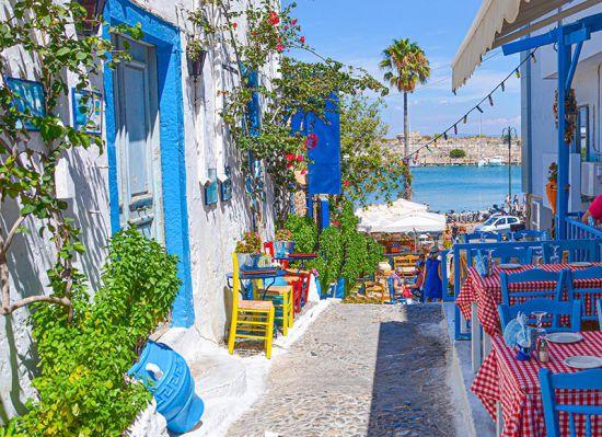 Griekse Tuinposter Kos-stad