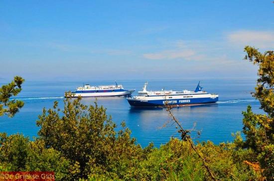Ferries bij Kefalonia