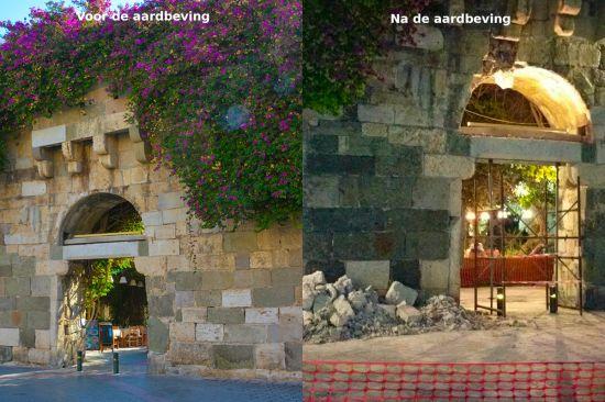 Theo Mezz Foto Kos aardbeving