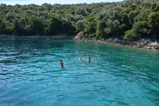 Zwemmen bij Meganisi