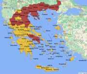 Nieuwe covid-maatregelen op twee niveaus in Griekenland