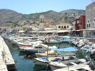 Het haventje van Hydra - Foto van alice41