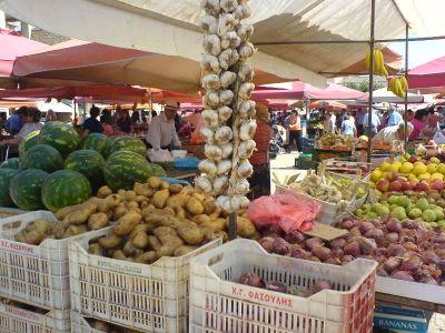 Groenten en fruitmarkt in Argos - Foto van alice41