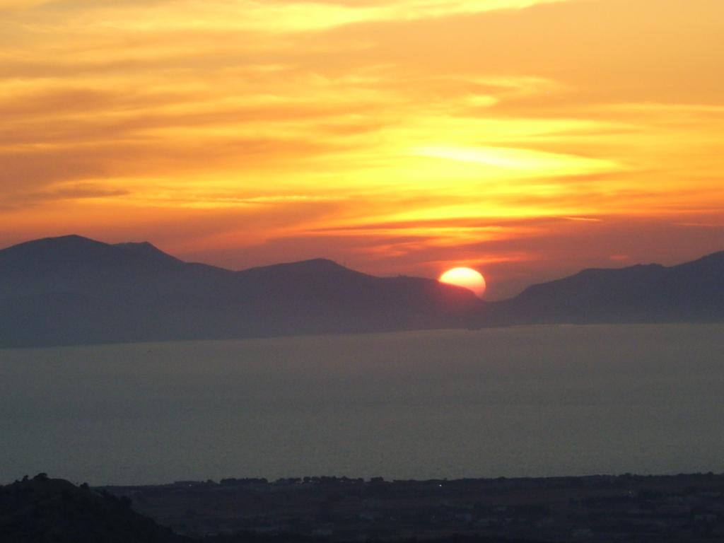 foto zonsondergang
