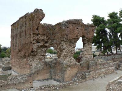 Ruine bij het oude theater van Argos, Peloponnesos - Foto van anna