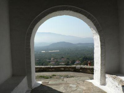Uitzicht vanaf het kerkje boven Metaxochori - Foto van anna