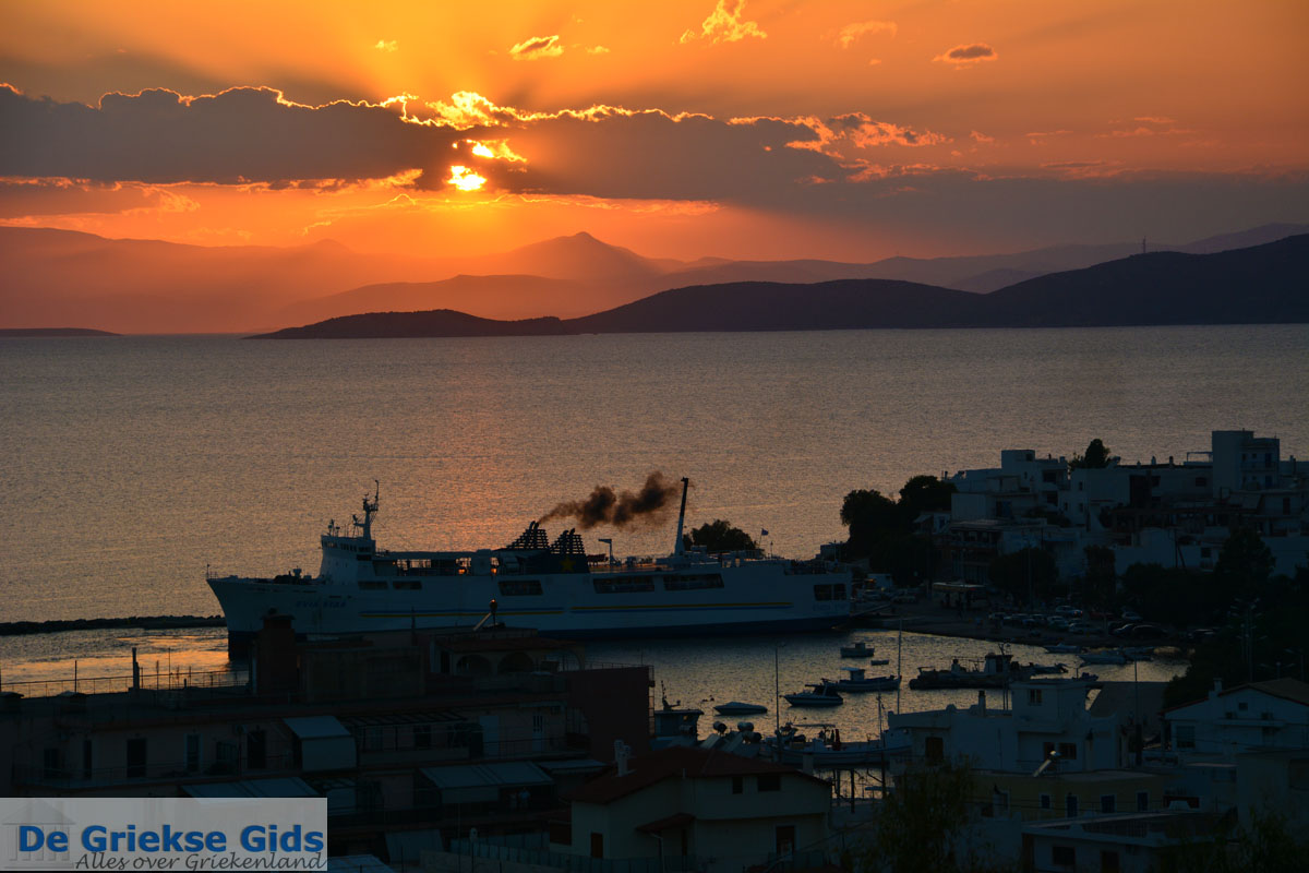 foto Zonsondergang Marmari Evia | Griekenland | Foto 11