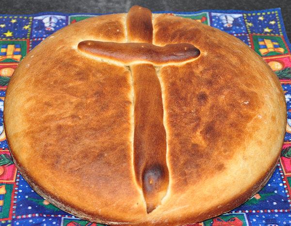 Christopsomo - Christusbrood - Foto Grieks kerstbrood