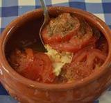 Warme feta met tomaten