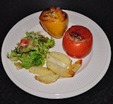 Gemista | gevulde tomaten en paprika's
