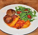 Keftedes, Griekse gehaktballetjes in tomatensaus