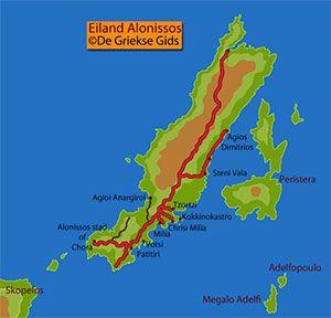De interactieve kaart van Alonissos