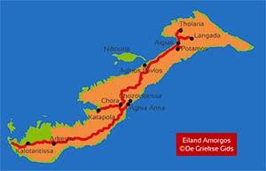 De interactieve kaart van Amorgos