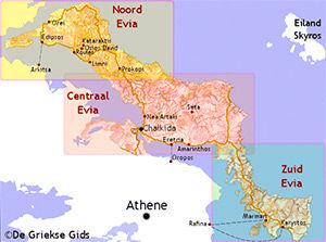 De interactieve kaart van Evia