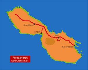 De interactieve kaart van Folegandros
