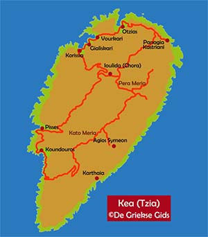 De interactieve kaart van Kea