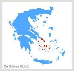 Waar liggen de Cycladen? - De Griekse eilanden