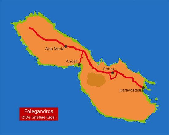 Kaart - Landkaart Folegandros