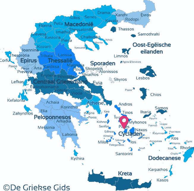 Waar ligt Cycladen