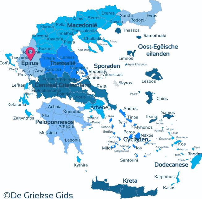 Waar ligt Epirus