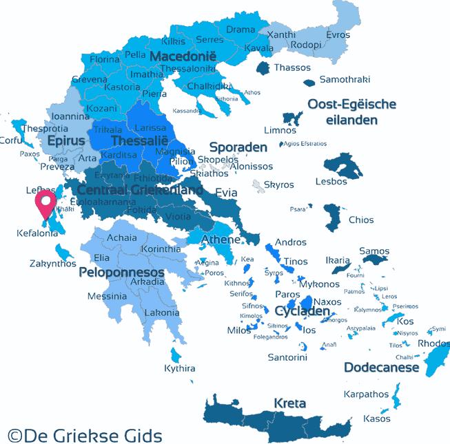 Waar ligt Ionische eilanden