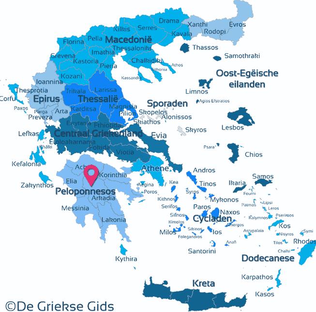 Waar ligt Peloponnesos