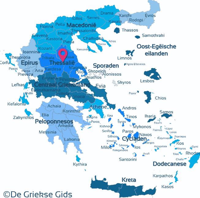 Waar ligt Thessalie