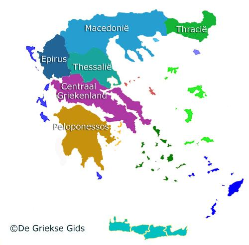 Kaart Griekse vasteland