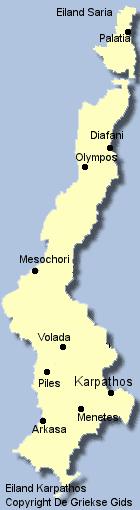 Kaart van Karpathos
