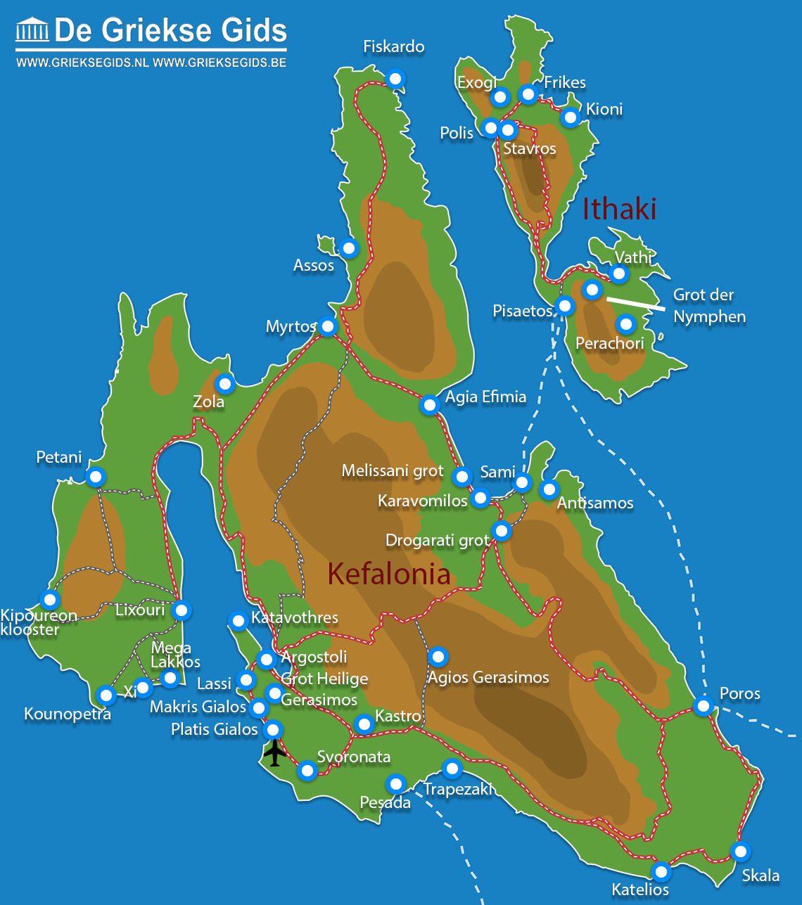 Kaart Kefalonia