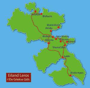 Kaart Leros
