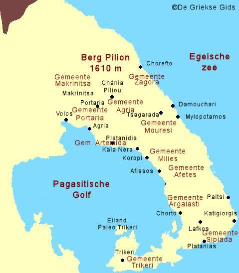 De plattegrond - Kaart van Pilion