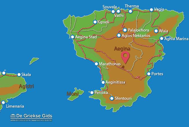 Uitstapjes / Trips vanaf Kaart - Landkaart Aegina