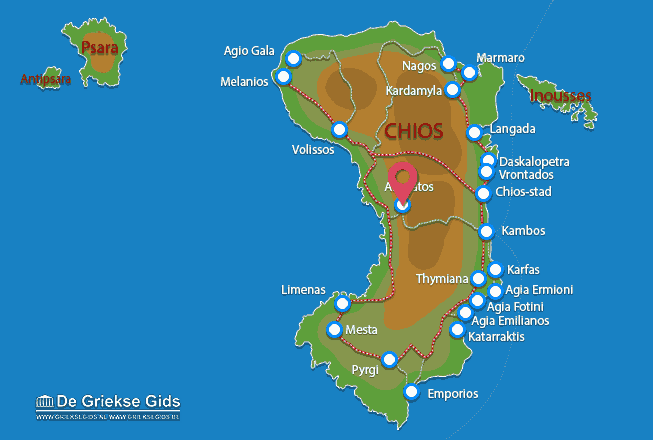 Waar ligt Chios