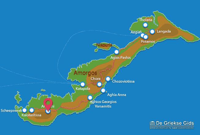 Waar ligt Amorgos