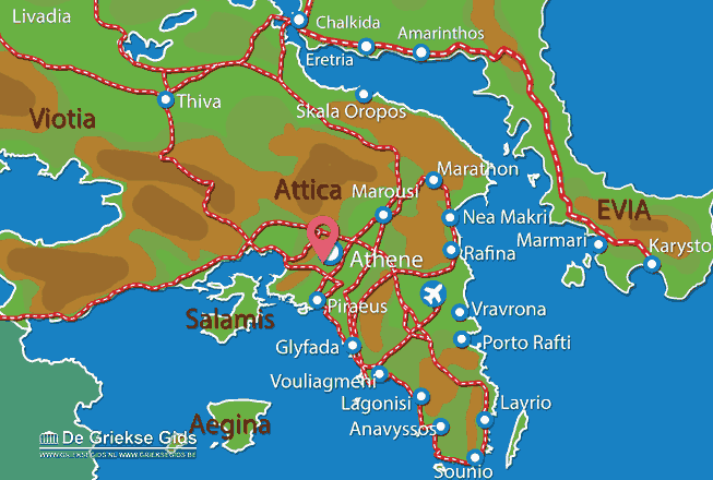 Waar ligt Attica