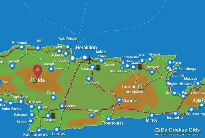 Uitstapjes / Trips vanaf Ida gebergte